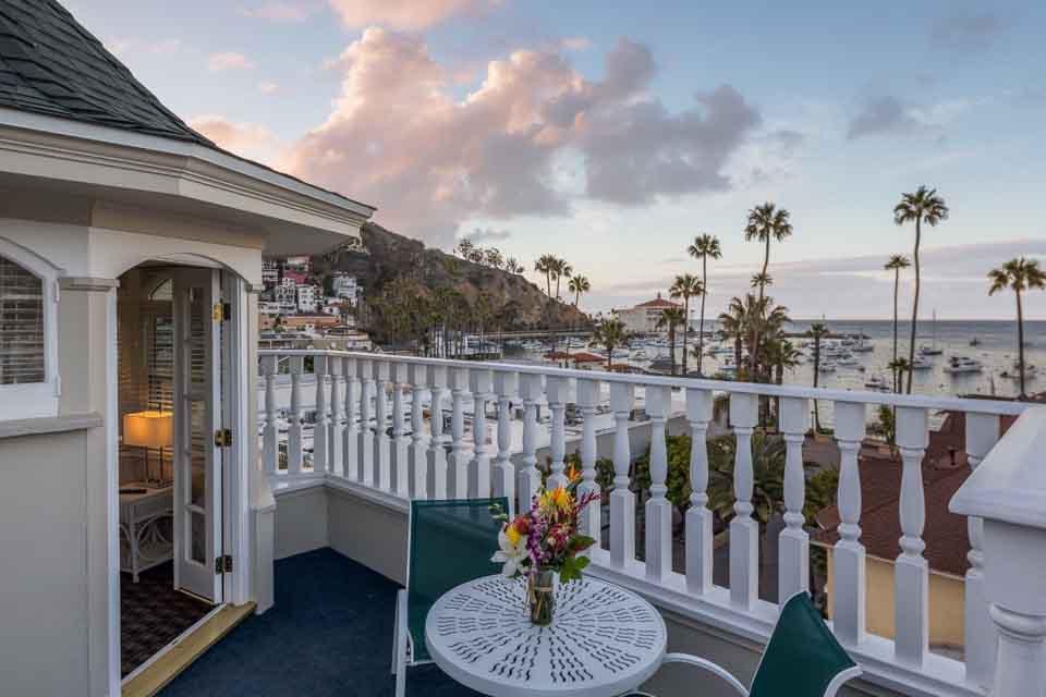 Catalina Island Hotel Glenmore Plaza Clark Gable Suite Balcony