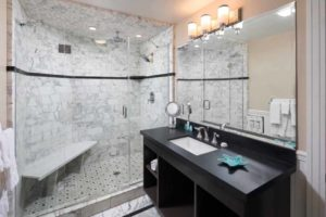 Premium King Suite Bath at the Glenmore Plaza Hotel